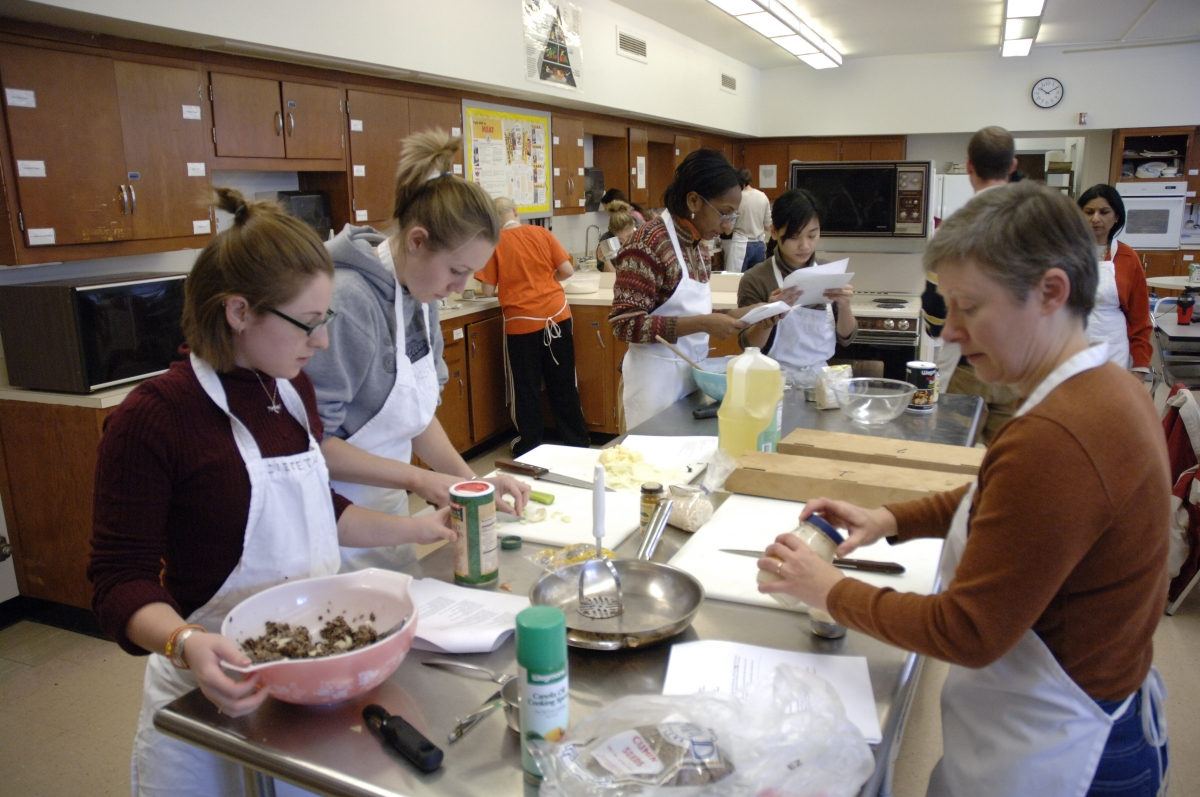 Cooking demonstration with Buffalo State Hospitality students