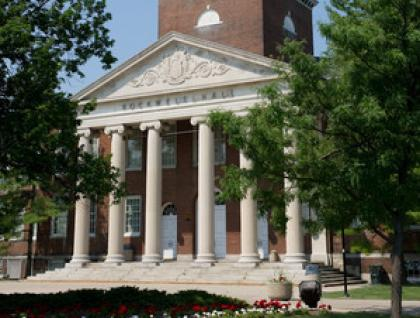 Exterior photograph of Rockwell Hall