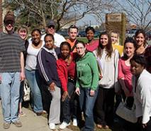 Social Work students during community outreach
