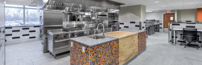 New Hospitality kitchen in Caudell Hall