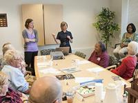 Faculty member hosting the Intensive Summer Aphasia Group in the Speech Clinic